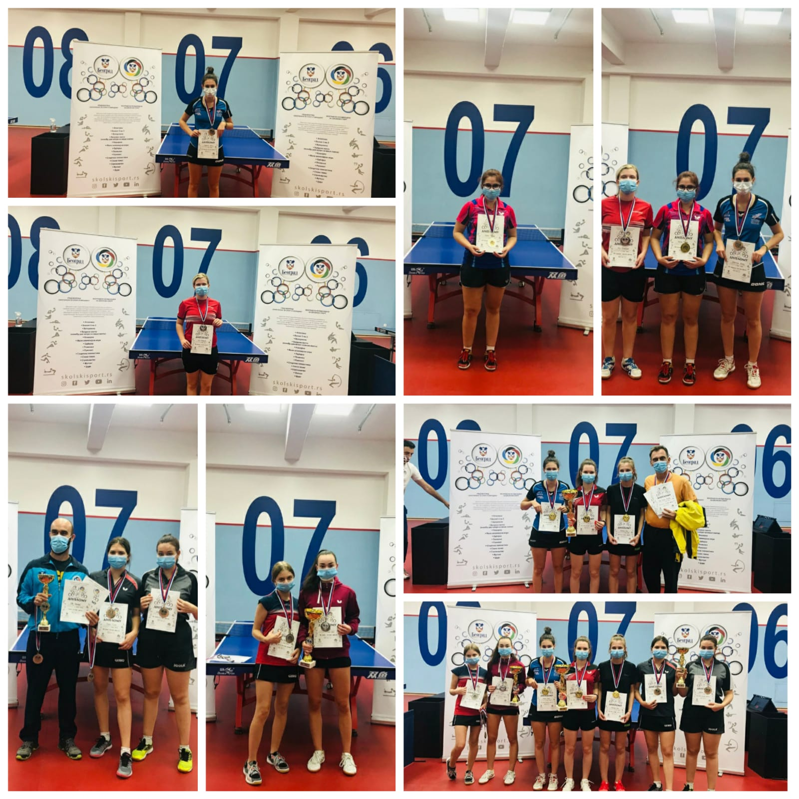 PLACEMENTS AT THE CITY TABLE TENNIS CHAMPIONSHIP-SCHOOL YEAR 2020/2021-SECONDARY SCHOOL STUDENTS, INDIVIDUAL AND TEAM