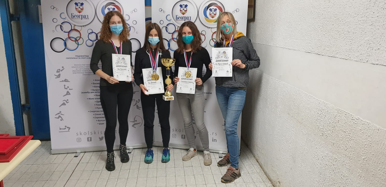 """CITY SHOOTING CHAMPIONSHIP-SECONDARY SCHOOL STUDENTS-INDIVIDUAL AND TEAM-08.10.2020. YEARS-SHOOTING CLUB """"NEW BELGRADE-USCE"""