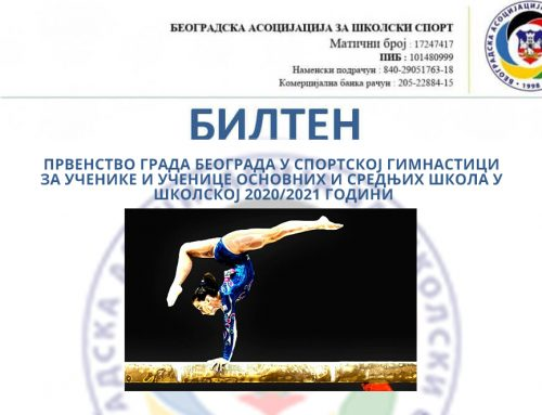 RESULTS OF THE BELGRADE GYMNASTICS CHAMPIONSHIP 2021